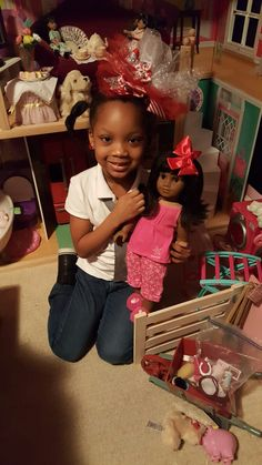 Loving my 1st 24 hours with My American Girl Doll Melody. She is special.