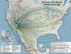 America West Airlines was a US airline headquartered in Tempe Arizona .merged with US Airlines (Airways) Vintage Travel Posters, Vintage Airline, America West Airlines, Porter Airlines, Flight Map, Hainan Airlines, Us Airways, Airline Logo, Alaska Airlines