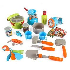 Little Explorers 20 Piece Camping Gear Toy Tools Play Set for Kids by Liberty...