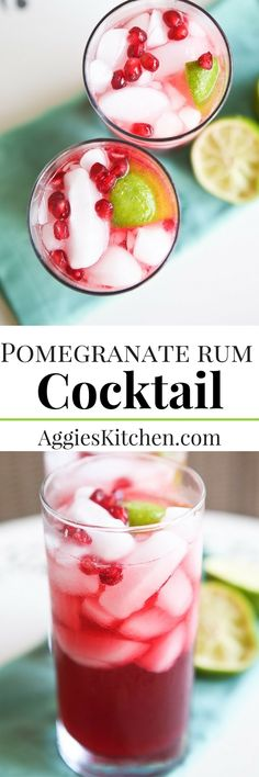 Inspired by the Love Boat's famous bartender, Isaac, this Pomegranate Rum Cocktail will instantly make you feel like you are on vacation!
