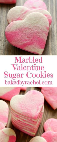 40 Easy Valentines Day Cookies: Adorable Sweets - The Daily Spice - Jamie Cash Duncan - 40 Easy Valentines Day Cookies: Adorable Sweets - The Daily Spice Easy Valentines Day Cookies: Marbled Valentine Sugar Cookies - Valentine Desserts, Valentines Day Cookies, Valentine Sugar Cookie Recipe, Valentines Day Treats, Holiday Treats, Valentines Baking, Valentines Recipes, Valentine Food Ideas, Heart Sugar Cookies Recipe