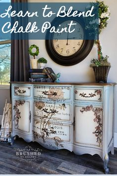 I tend to be a theme decorator, take cues from the style of my piece and run with is all the way through. This french provincial style buffet gets a fabulous cherry blossom makeover and is a perfect example. Floral Furniture, Funky Furniture, Repurposed Furniture, Shabby Chic Furniture, Furniture Projects, Furniture Makeover, Furniture Decor, Dresser Makeovers, Furniture Design