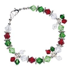 Christmas Cut Crystal Bead Assortment - 6mm-8mm - Oriental Trading