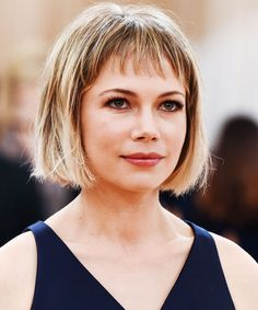 No matter what year it is, Michelle Williams is rocking your next best cut. New Hair Do, Cut My Hair, Great Hair, Haircuts With Bangs, Short Bob Hairstyles, Cool Hairstyles, Michelle Williams Haircut, Short Hair Cuts, Short Hair Styles