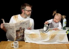 Hilarious photos of World's Best Dad and his daughter, Alice Bee. Papa Humor, Dinner Recipes For Kids, Kids Meals, Top Photos, Photoshop, Daddy Daughter, Blog Images, Good Good Father, Healthy Snacks For Kids