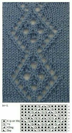 – Awesome Knitting Ideas and Newest Knitting Models Lace Knitting Stitches, Lace Knitting Patterns, Knitting Charts, Lace Patterns, Easy Knitting, Stitch Patterns, Knitting Projects, Knit Purl, Drops Design