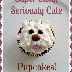 I'm in love with these cupcakes. They were easy to do and turned out great. I don't know whether to snuggle with these fluffy white delights or eat them. The best thing about making dog…