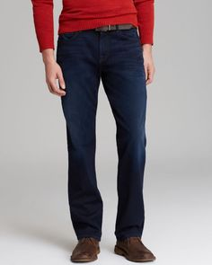 7 For All Mankind Jeans - Luxe Perfomance Carsen Relaxed Fit in Blue Ice