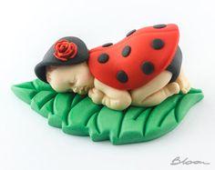 Coccinella Baby Cake Topper Doccia coccinella di WorldByGabi
