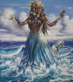 O My Yemaya Take care, bless your children, and all those who have faith in you. Cleanse us with your sacred saltwater, Ase. O My Yemaya Goddess of The Sea Take away the bad and Throw it into the...