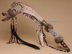 "Native American Dream Catcher Jaw Bone Club 26""  - Mission Del Rey Southwest"