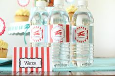 Water Bottle labels  Vintage Airplane by sweetshoppepaperie, $10.00
