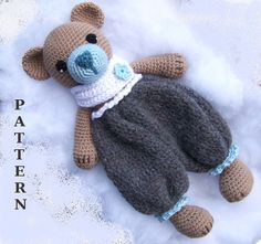 Crochet Bear Pattern-Crochet Rag Doll Bear Pattern-Amigurumi Bear-DIY Crochet To… Crochet Bear Pattern-Crochet Rag Doll Bear Pattern-Amigurumi Bear-DIY Crochet Toy-Stuffed Toy Animal Tutorial-Snuggly Bear Crochet Pattern Diy Crochet Toys, Crochet Teddy Bear Pattern, Crochet Lovey, Crochet Bunny Pattern, Crochet Mask, Crochet Patterns Amigurumi, Cute Crochet, Crochet Dolls, Crochet Projects