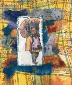 Student work from Judy Gula's Fabric Embellishing class Mixed Media Artists, Student Work, Journal, Creative, Fabric, Inspiration, Painting, Tejido, Biblical Inspiration
