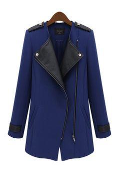 navy + black jacket