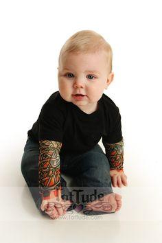 Tattoo sleeve onesie <3