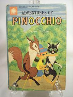 Vintage 'Adventures of Pinocchio' Children's Book by Carlo Collodi