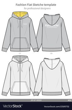 Zip-up hoody fashion flat technical drawing vector image on VectorStock Sweet Shirt, Clothing Templates, Easy Hand Drawings, Fashion Vector, Shirt Drawing, Sneakers Sketch, Flat Sketches, Fashion Design Sketches, Drawing Clothes