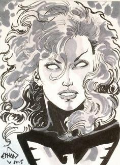 Jean Grey - Phoenix by Ethan Van Sciver * Drawing Superheroes, Marvel Drawings, Comic Books Art, Comic Art, Book Art, Nate Grey, Jean Grey Phoenix, Cyclops, Storyboard