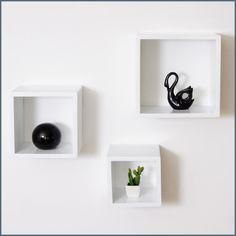 Rectangle shelves = elegant and modern decoration