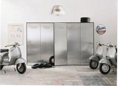 Sectional steel wardrobe CITYBOX by EmmeBi design Pietro Arosio Steel Wardrobe, Furniture Decor, Furniture Design, Modern Furniture, Estilo Hipster, Scooter Custom, Wardrobe Storage, Closet Storage, Modern Aesthetics