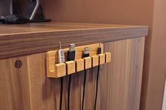 The Handmade Wooden Desk Cable Organizer