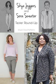 0818d18947 Skye Joggers   Sora Sweater cardigan and pullover sewing patterns from  Blank Slate Patterns
