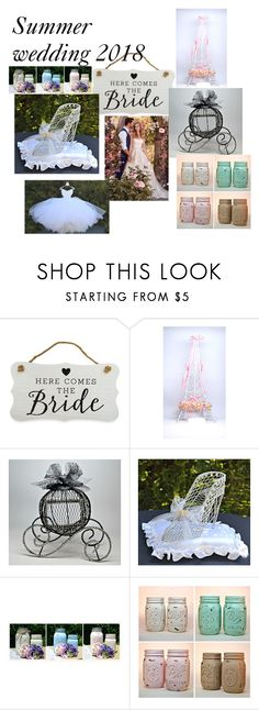 """""""Summer wedding 2018"""" by dianassewingstudio on Polyvore featuring New View, Maggie Sottero and etsyfru"""