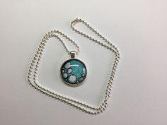Zentangle Inspired Art (ZIA) Pendant Necklace Blue Beach Rocks by craftyfrogdogs on Etsy
