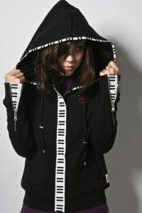 It would be pretty easy to just add the piano keys fabric to a ready-made jacket.
