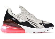Buy and sell authentic Nike shoes on StockX including the Air Max 270 Platinum Coral (GS) and thousands of other sneakers with price data and release dates. Nike Air Shoes, Running Shoes Nike, Nike Air Max, Cute Sneakers, Air Max Sneakers, Sneakers Nike, Marathon Running Shoes, Hot Shoes, Shoes Sandals