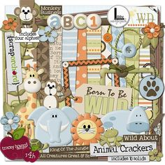 "Photo from album ""Animal Crackers"" on Yandex. Digital Scrapbooking Freebies, Scrapbooking Layouts, Scrapbook Paper, Scrapbook Templates, Digital Papers, Christmas Scenes, Christmas Time, Christmas Crafts, Paper Animals"