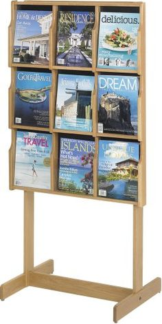 #@ Lowest Price Safco Model Oak Magazine Stand (5713)a