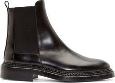 Yang Li Black Premium Leather Chelsea Boots