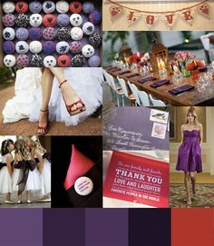 Destination wedding Dresses purplered