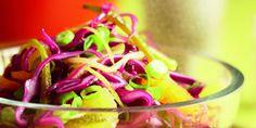 Boodschappen - Rodekoolsalade met sinaasappel en mosterddressing