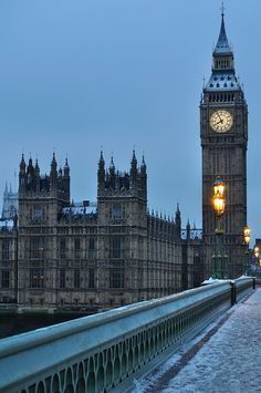 London, England; I'd go for a week in the winter. I'd love to visit Big Ben, Parliament, Westminster Abbey and Buckingham Palace. I'd like to ride on a double-decker bus and go shopping in the fashion district.