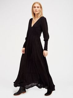 Maritza Veer || FP ENDLESS SUMMER Wednesday Lace-Up Back Maxi (Black)