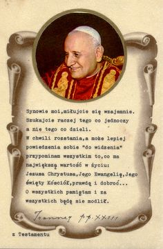 pope+john+holy+cards | pope john xxiii