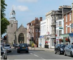 St Thomas Chrch from High Street Lymington