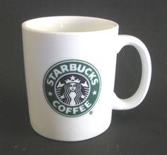 Starbucks Coffee 2006 Green Logo Mermaid White Ceramic Coffee Mug 12 oz