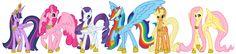 mlp as alicorns | Mane6 as Alicorns by EvolifanNo1