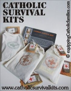 last 9 hours! Giveaway closes tonight for cool Catholic Survival Kits! Win one for someone you're praying for to return to the Catholic Church!