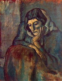 Pablo Picasso (1881-1973) ~ Woman in Blue, 1902