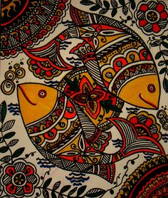 Folk art painting indian easy 49 New Ideas Art Painting, Tribal Art, Madhubani Art, Mural Art, Indian Folk Art, Illustration Art, Madhubani Painting, Canvas Art, Folk Art Painting