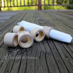 Sale (30) Mini Wooden Napkin Rings, Wood Rings, Wedding Napkin Rings: Nr