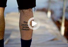 third tattoo #thightattoos Thigh Tattoo Quotes, Small Meaningful Tattoos, Trendy Tattoos, Third, Cats, Meaning Tattoos, Stylish Tattoo, Tattooed Guys, Leg Tattoos
