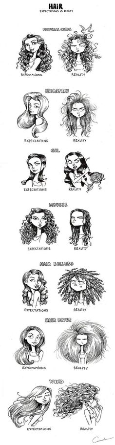 Hair: expectations vs reality! So true, lol!