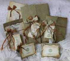 Seeded Plantable Wedding Invitation, Irish Invitation, Celtic Design