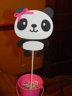 Panda Birthday Party Centerpiece by JLMpartyshop on Etsy, $5.00  @Leslie Mullett